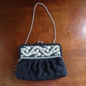 Vera Bradley Embroidered Giselle Clutch